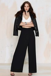 Nasty Gal Totally Floored Wide Leg Pant Black
