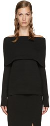 Toteme Black Jaca Off The Shoulder Sweater