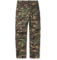 Neighborhood Camouflage Print Cotton Ripstop Trousers Green