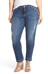 Kut From The Kloth Plus Size Women's 'Reese' Distressed Stretch Straight Leg Ankle Jeans Capability