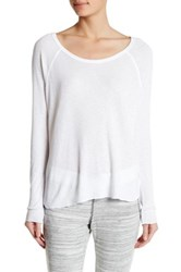 Love Grace Leslie Raglan Long Sleeve Tee White