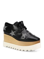 Stella Mccartney Star Creeper Platform Sneakers White Black