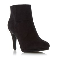 Linea Ocean Kitten Heel Side Zip Ankle Boots Black