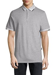 Ag Green Label Short Sleeve Heathered Polo Heather Grey