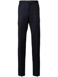 Thom Browne Deconstructed Tailored Trousers Cupro Wool Blue