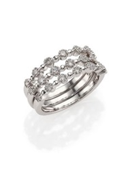 Kwiat Stardust Diamond And 18K White Gold Stacking Ring Set White Diamond