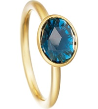Astley Clarke London Blue Topaz Oval Stilla 18Ct Yellow Gold Plated Ring
