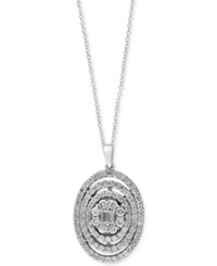 Effy Collection Classique By Effy Diamond Pendant Necklace 1 1 2 Ct. T.W. In 14K White Gold
