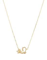 Betsey Johnson Goldtone Cat And Fish Pendant Necklace
