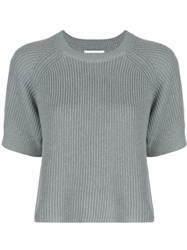 Apiece Apart Ribbed Knit Jumper Blue