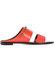 Lanvin Double Strap Mules Yellow And Orange