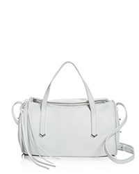 Botkier Bowery Leather Duffel Satchel 100 Exclusive Chalk Silver