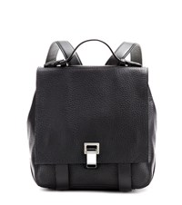Proenza Schouler Ps Courier Small Leather Backpack Black