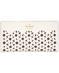 Kate Spade New York Cameron Street Perforated Stacy Wallet Cement