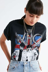 Urban Outfitters The Who Crew Neck Tee Black