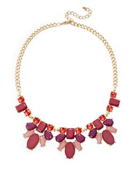 Catherine Stein Cluster Collar Necklace Red