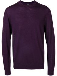 Paul Smith Ps By Crew Neck Jumper Pink And Purple