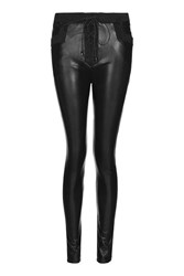 Wyldr Motor Black Pu Leather Leggings By Black