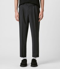 Allsaints Portman Cropped Straight Trousers Charcoal
