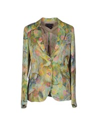 Femme By Michele Rossi Blazers Light Green