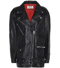 Acne Studios Myrtle Leather Jacket Black