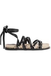 Alexander Wang Adriana Leather Espadrille Sandals Black