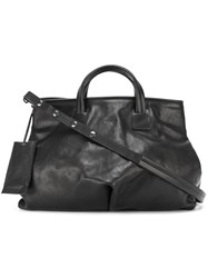 Marsell Logo Embossed Tote Bag Black