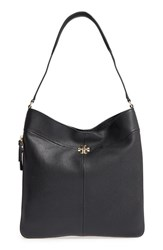 Tory Burch Ivy Leather Hobo Black