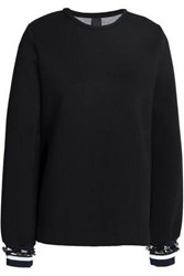 Mother Of Pearl Embellished Cotton And Modal Blend Sweatshirt Black