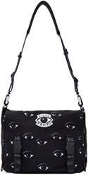 Kenzo Black Nylon Eye Messenger Bag