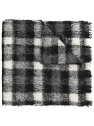Dsquared2 Checked Scarf Grey