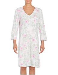 Miss Elaine Floral Print Nightgown Lavender Paisley