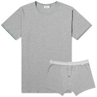 Schiesser Ludwig Crew Neck Tee And Short Pack Grey
