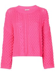 Jason Wu Long Sleeve Knitted Top Pink