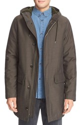 A.P.C. Men's 'Fighter' Cotton And Wool Parka