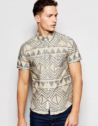 Native Youth Aztec Short Sleeve Shirt Multi