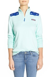Vineyard Vines 'Shep' Whale Embroidered Pullover Wintermint