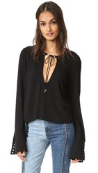 Free People Nu Nu Jumo To The Beat Tee Black