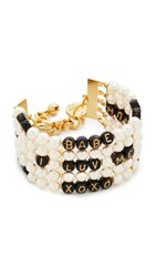 Venessa Arizaga Whatcha Say Imitation Pearl Bracelet Gold Pearl