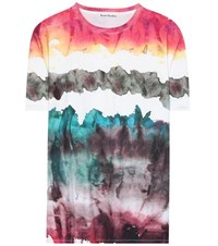 Acne Studios Oiga Cotton T Shirt Multicoloured