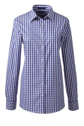 Lands' End Patterned Supima Non Iron Shirt Blue