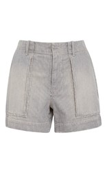 Nili Lotan Enginner Striped Denim Utility Short