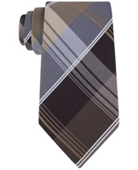 Geoffrey Beene Men's P For Plaid Tie Taupe