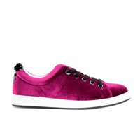 Kenzo Women's K Lace Low Top Trainers Burgundy