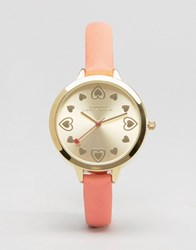 Johnny Loves Rosie Silver Heart Watch Silver Coral