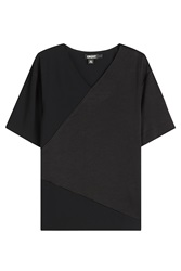 Dkny Geometric Short Sleeve Top Black