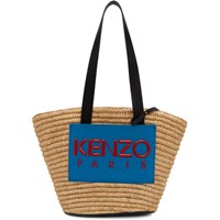 Kenzo Beige And Blue Summer Basket Tote