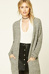 Forever 21 Longline Alpaca Blend Cardigan Charcoal