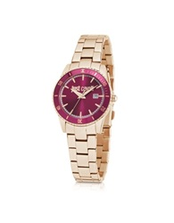 Just Cavalli Just In Time Rose Gold Tone Stainless Steel Women's Watches W Pink Dial