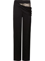 Monse Sequin Embellished Draped Trousers Black